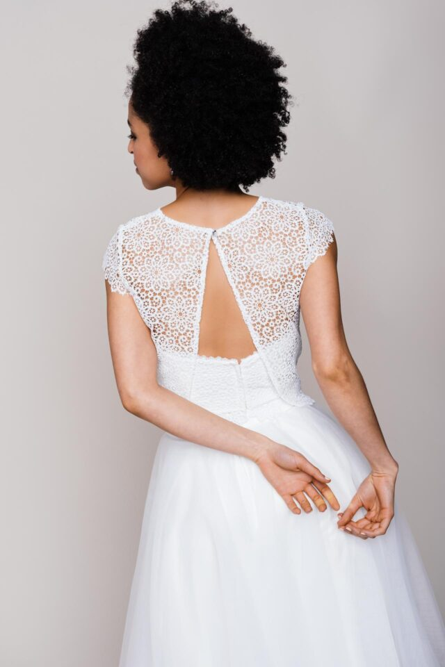 Kurzer Hochzeitsrock aus Tüll – Zuzu Pearl
