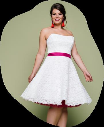 Mit unseren flotten Rockabilly Hochzeitskleidern hier wirst du definitiv Spaß an deiner Hochzeit haben. Tolle 50ies Tellerröcke mit deiner Lieblingspetticoatfarbe kombinieren und an deinem großen Tag cool und individuell strahlen.