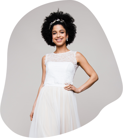 Brautkleid Zweiteiler mit bezaubernden Röcken & Spitzentops ♥ Entdecke die coole küssdiebraut Mix & Match Brautmode & heirate in deinem individuellen Braut-Outfit!