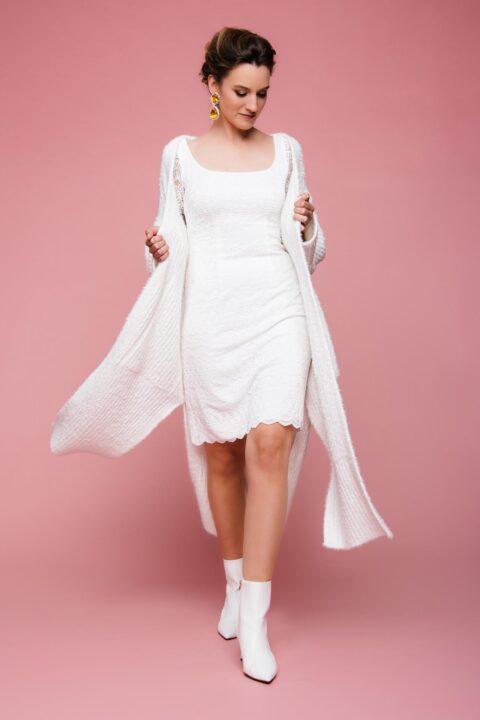 Brautmantel aus Strick
