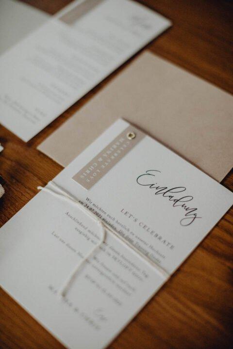 Einladung natürliche Hochzeit