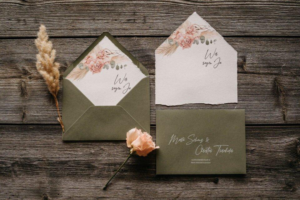 Papeterie, Einladungen zur Hochzeit