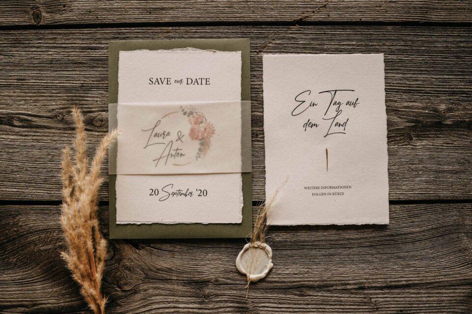 Save the Date Einladungskarte zur Hochzeit