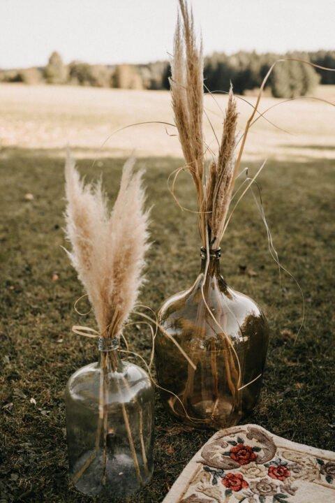 Pampasgras als Deko bei Country Hochzeit