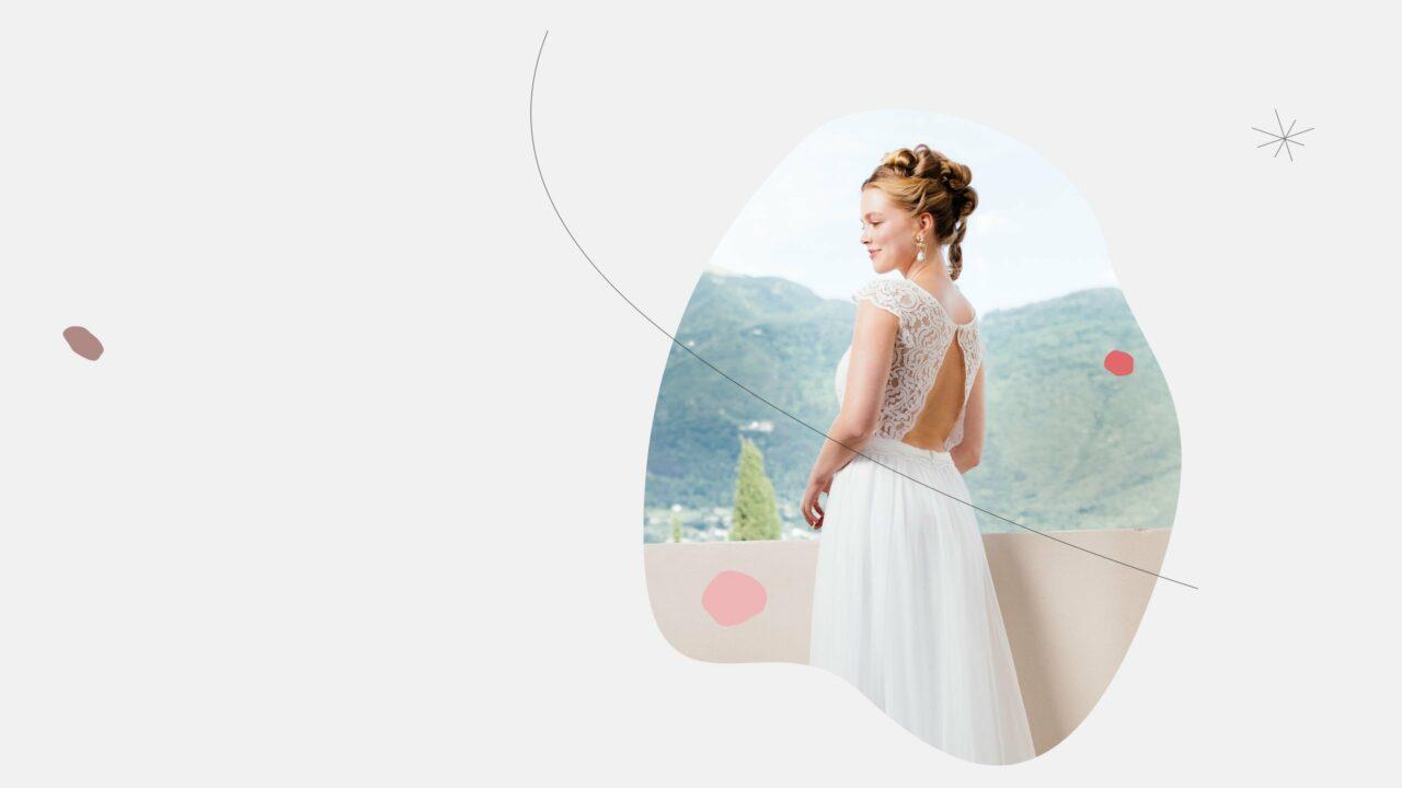 Bohemian Hochzeitskleid offener Rücken Anka