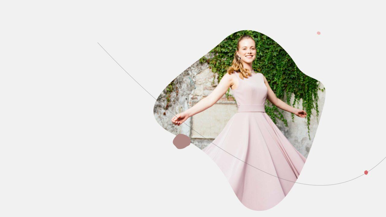 Brautkleid farbig Tiffany