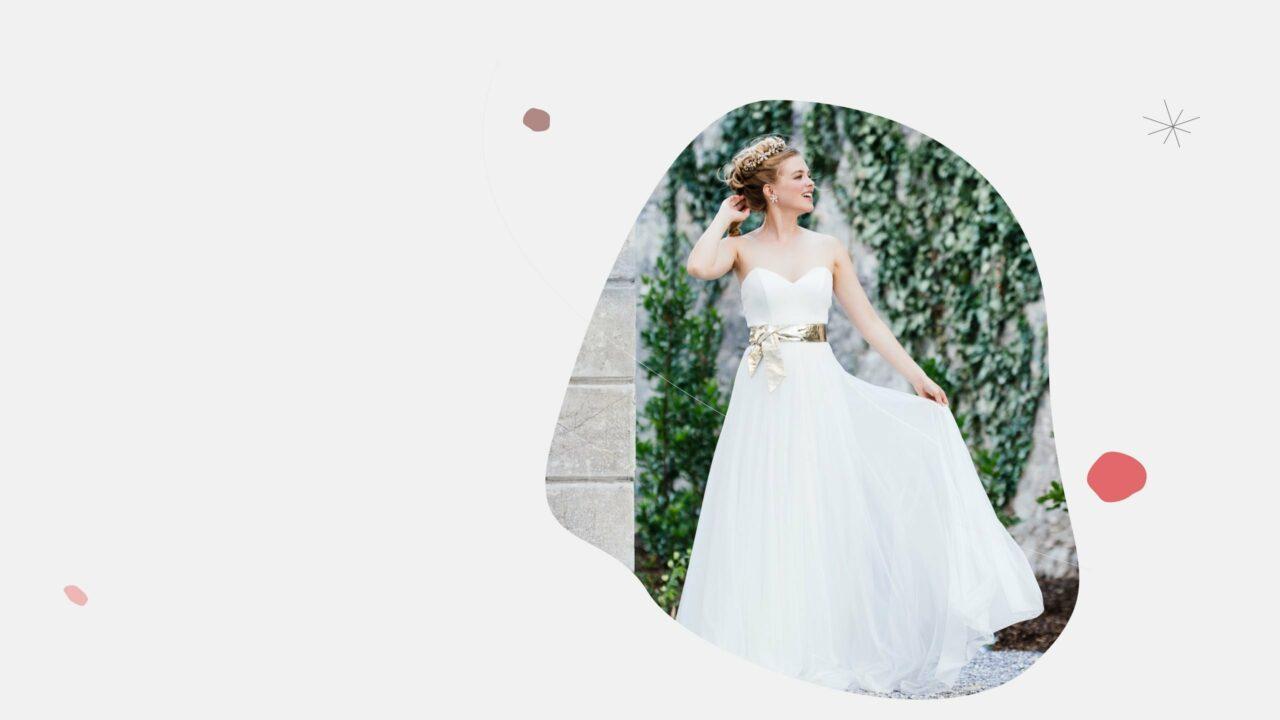 modernes Brautkleid ohne träger herzcorsage