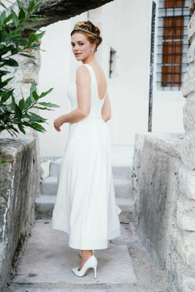 Brautkleid in Knöchellänge