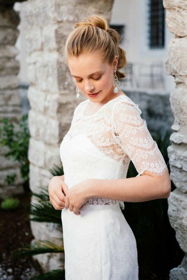 Brautkleid Zweiteiler aus Spitze
