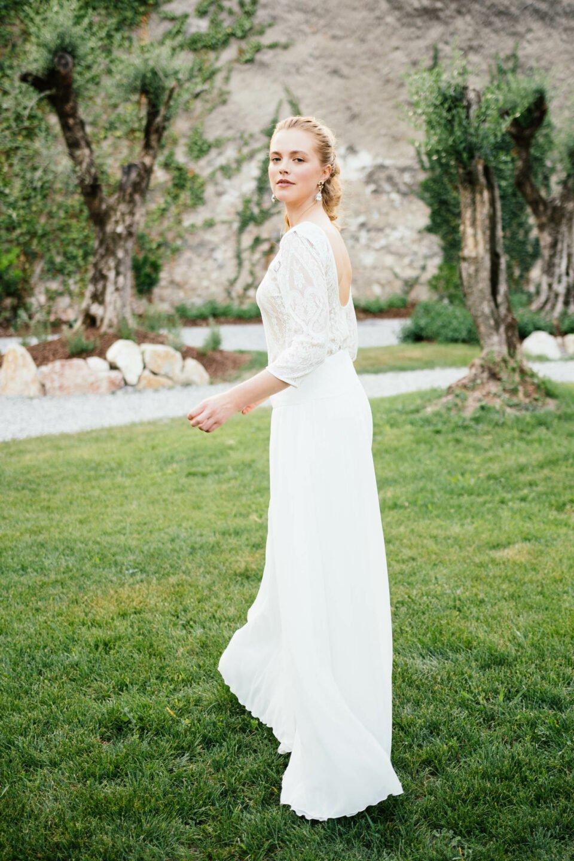 Braut Zweiteiler aus Body und Hosenrock