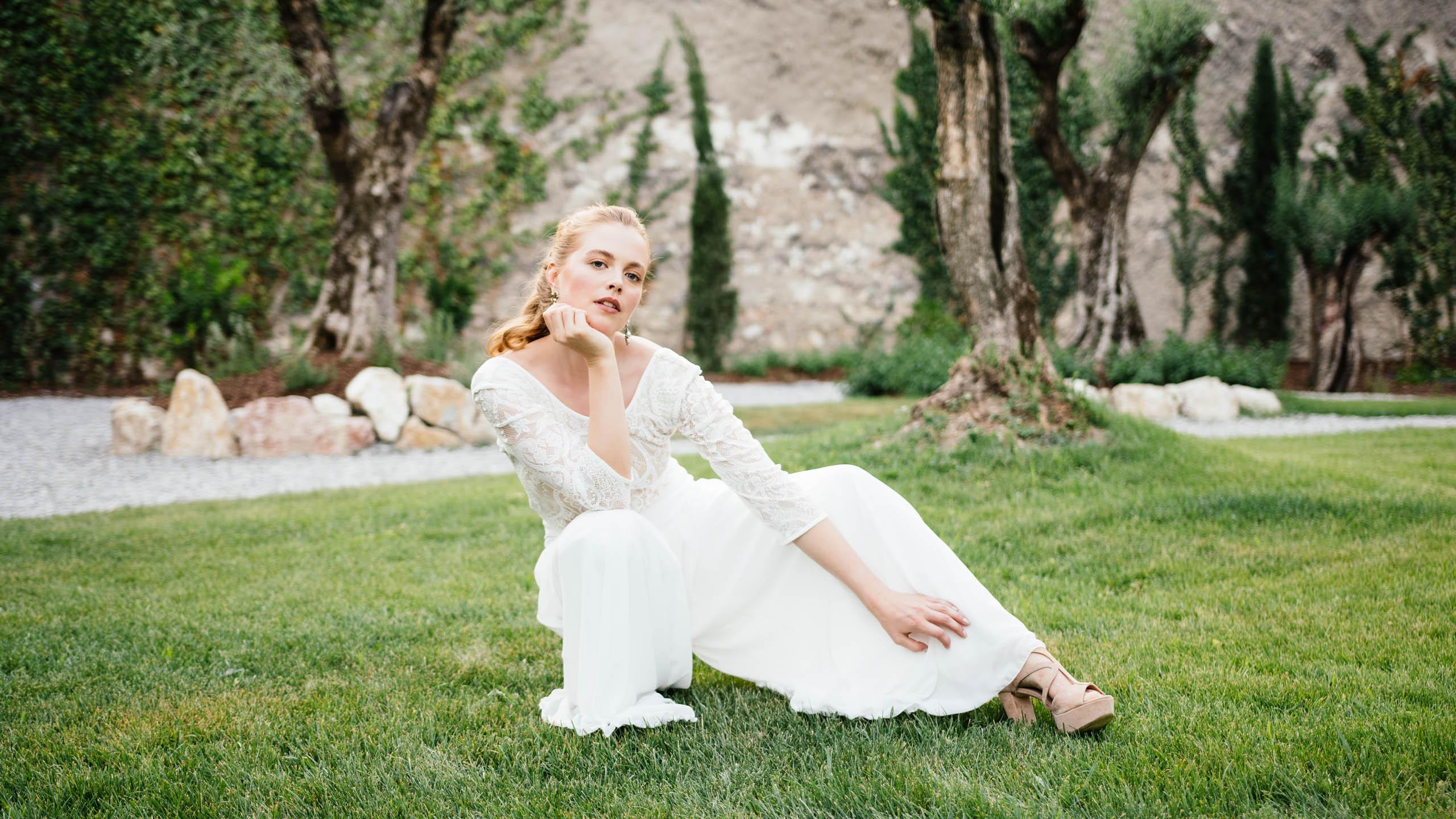 Braut Hosenrock mit weitem Bein