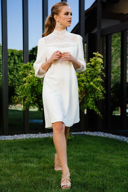 Nachhaltiges Standesamt Brautkleid mit besonderem Arm