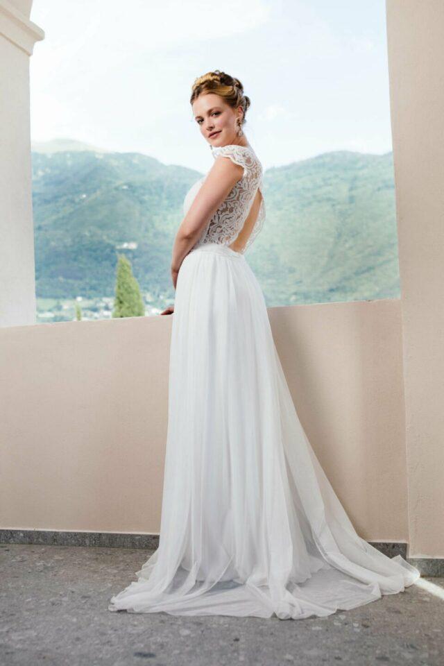 Bohemian Hochzeitskleid offener Rücken
