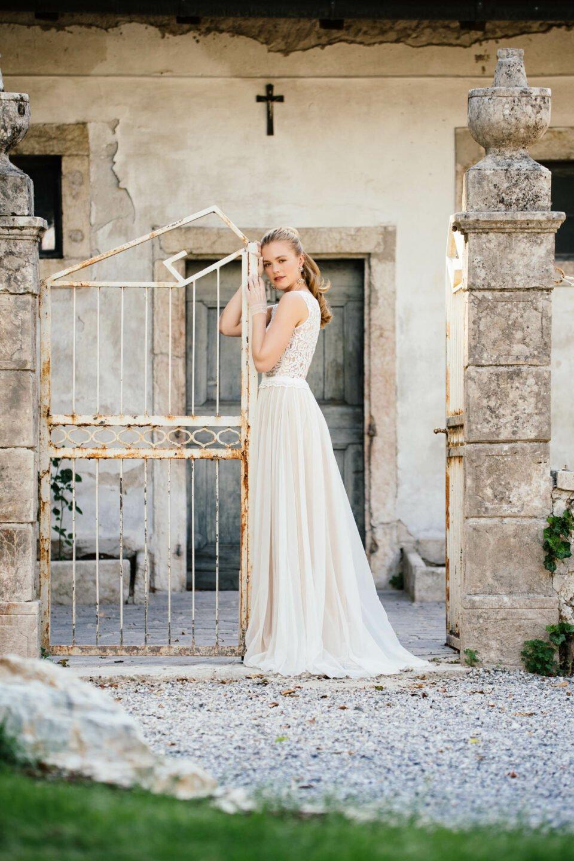 Bohemian Hochzeitskleid mit Soft-Tüll-Rock