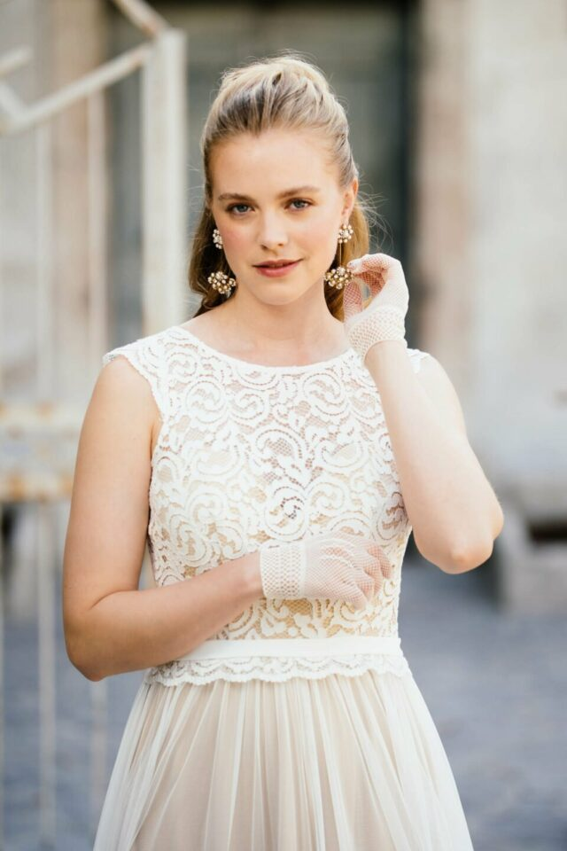 Bohemian Brautkleid mit Spitze