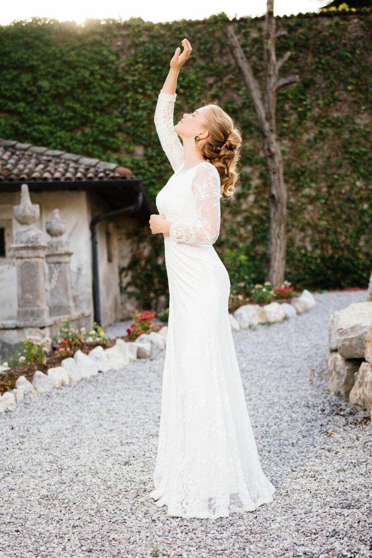 Vintage Brautkleid Allover in Spitze