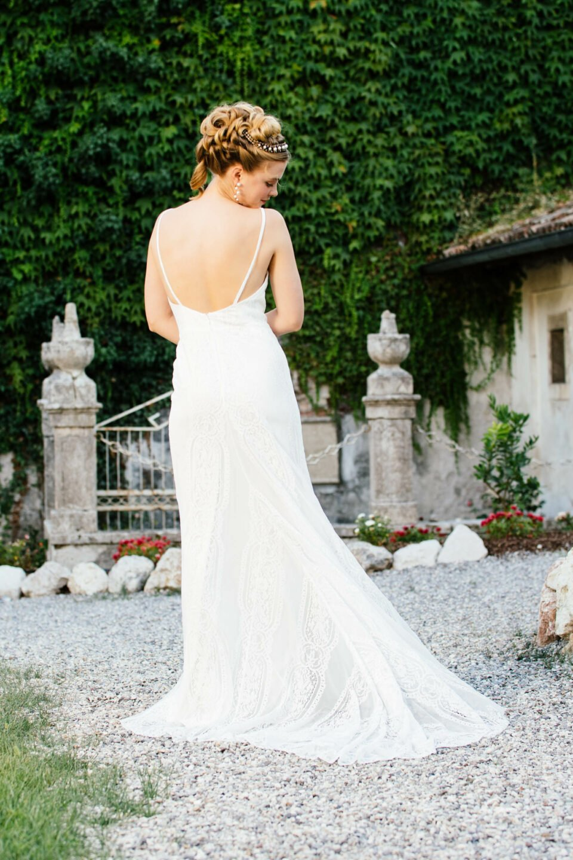 rückenfreies Hochzeitskleid Mermaid