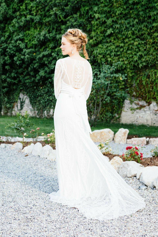 Meerjungfrauen Brautkleid mit Schleppe