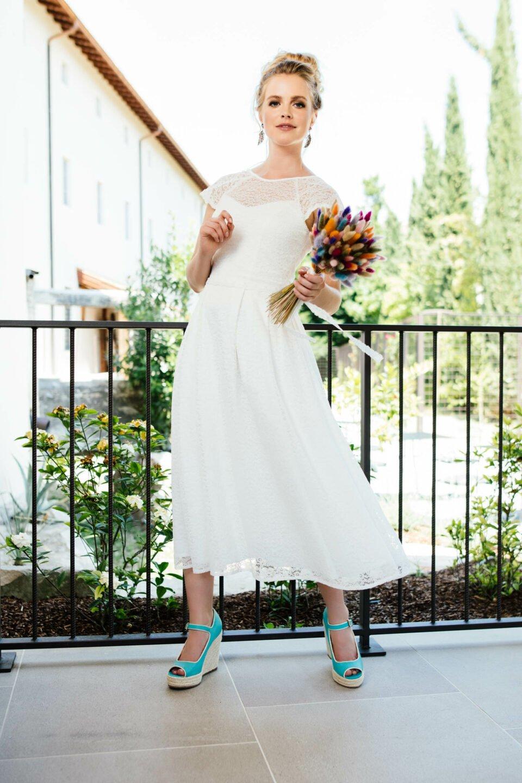 Nachhaltiges Spitzenkleid mit passendem Braut Top