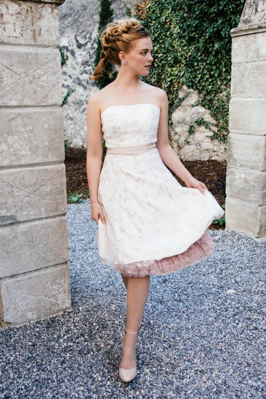 Brautkleid rosa Spitze