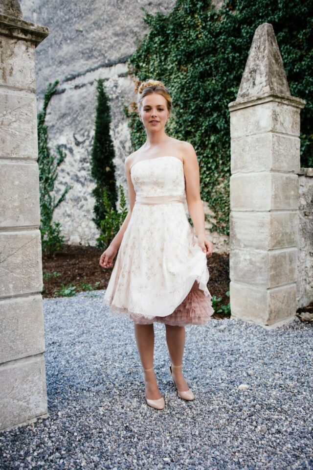 Brautkleid Rosa mit passendem Petticoat