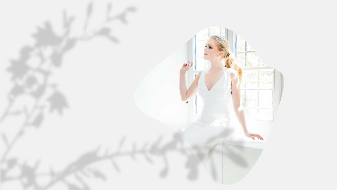 Conscious Brautkleid aus Viskose mit Trägern