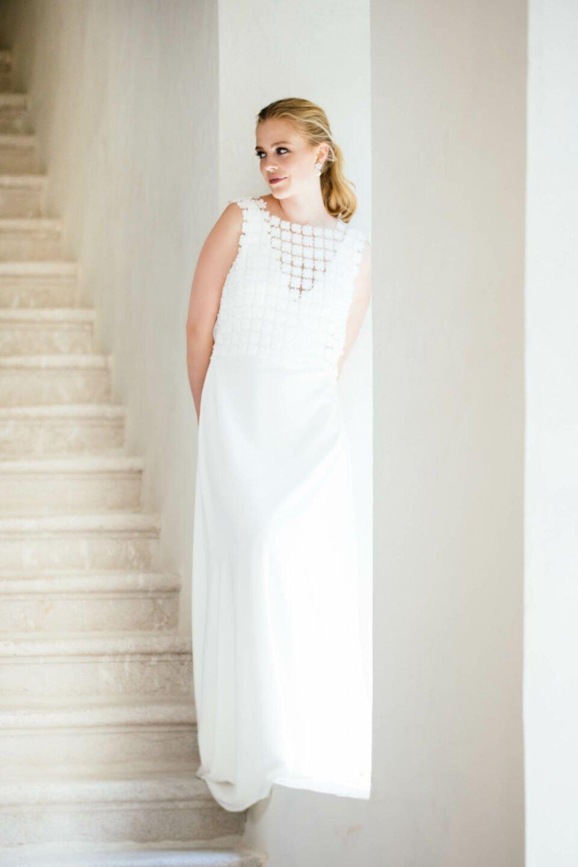 Conscious Brautkleid mit Brauttop aus recycelter Spitze