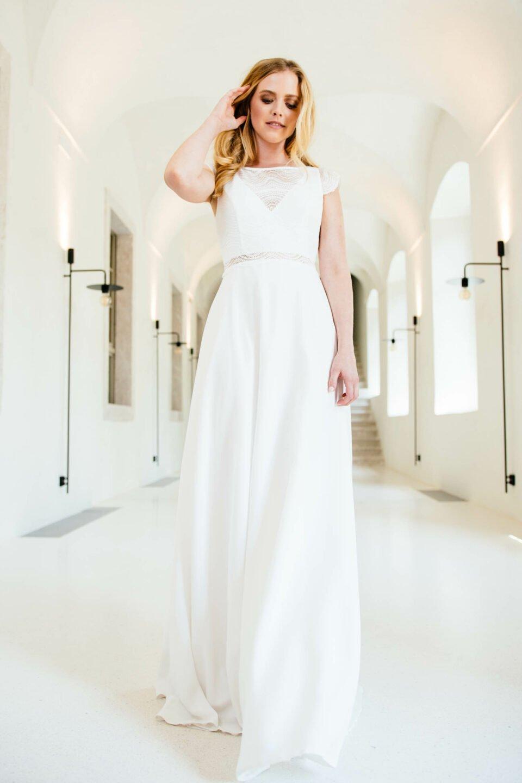 fließendes Brautkleid nachhaltig