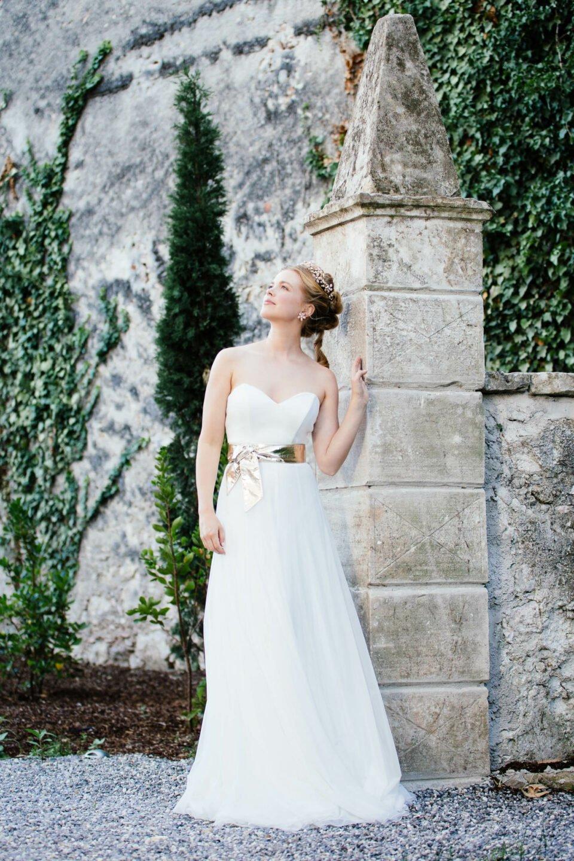 Sweetheart Hochzeitskleid ohne Träger mit Herzausschnitt
