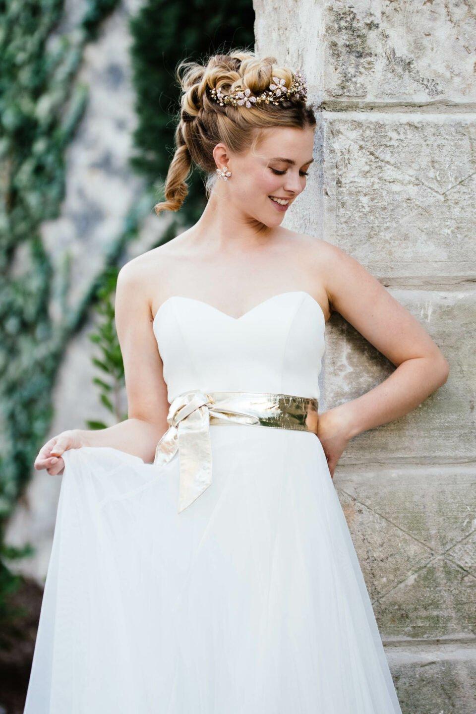 Sweetheart Brautkleid ohne Träger mit Herzausschnitt
