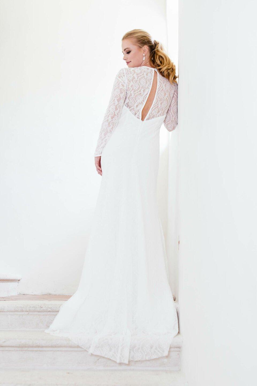 nachhaltiges Hochzeitskleid in Spitze