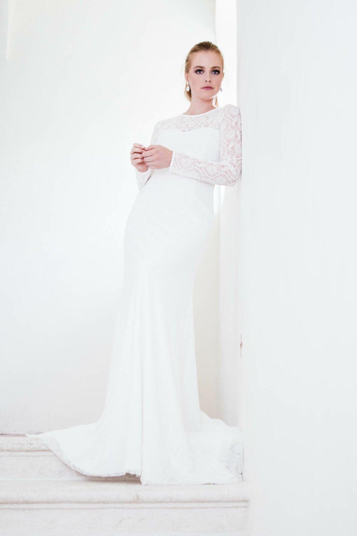 nachhaltiges Hochzeitskleid langärmlig