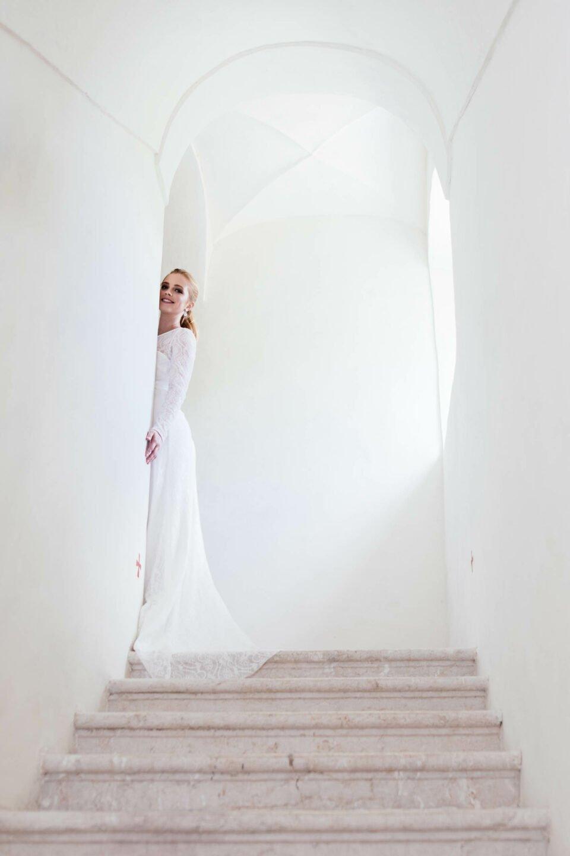 Langärmliges Hochzeitskleid edle & nachhalttig