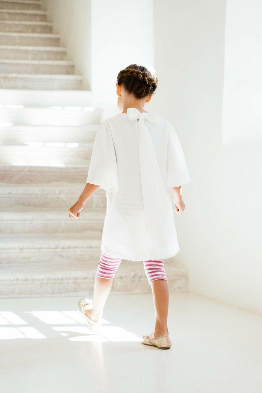 Kinderkleid zur Hochzeit mit Leggings