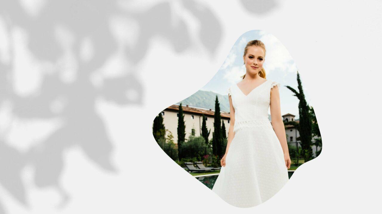 Zweiteiliges Brautkleid Bio Baumwolle