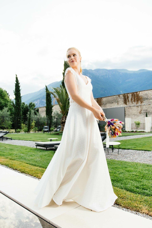 zweiteiliges Brautkleid nachhaltig