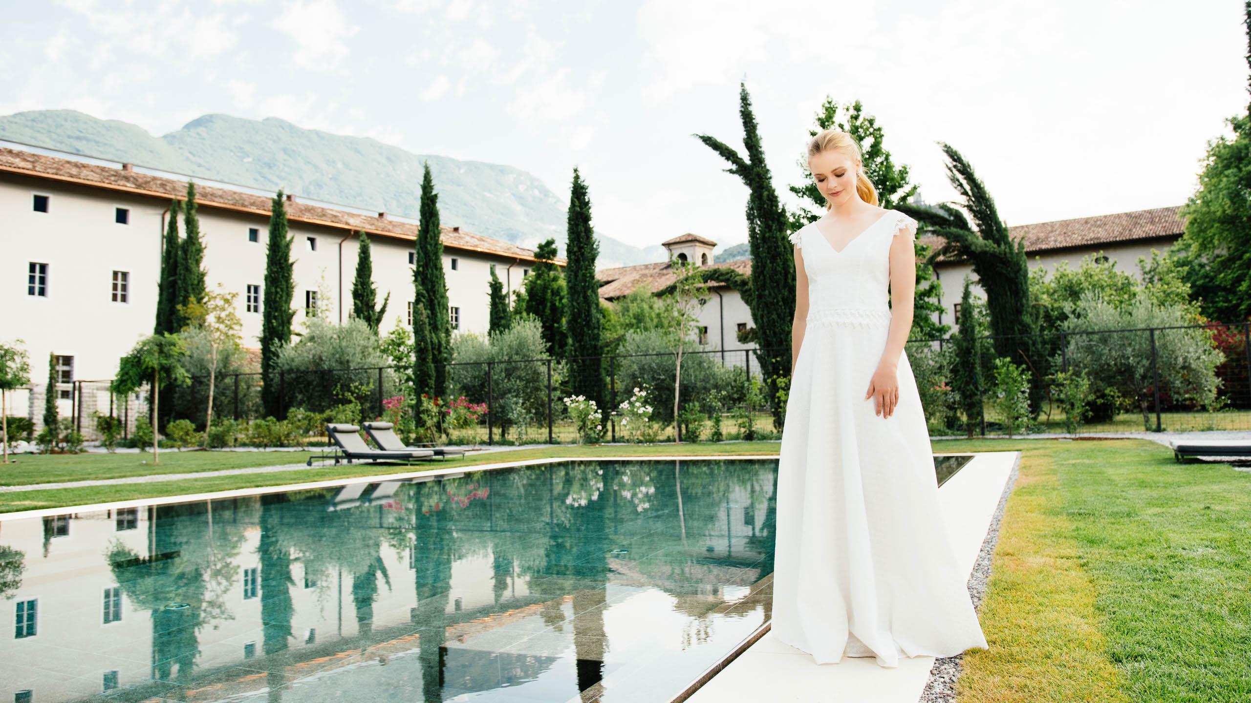 zweiteiliges Brautkleid aus Bio-Baumwolle