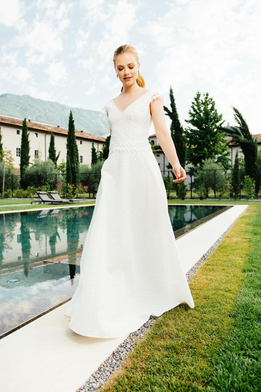 zweiteiliges Brautkleid , nachhaltig aus Bio-Baumwolle