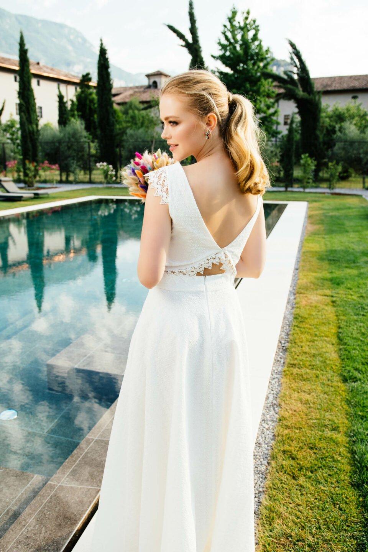 zweiteiliges Brautkleid Bio-Baumwolle