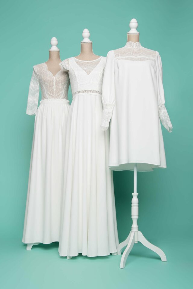 nachhaltige plus size Brautkleider